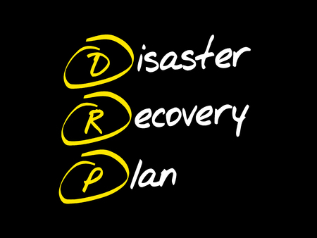 DRP - Disaster Recovery Plan, acronym business concept Illustration