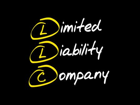 LLC - Limited Liability Company, Abkürzung für Geschäftskonzept