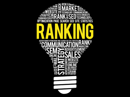 RANKING bulb word cloud, business concept Illustration