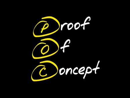 POC - Proof of Concept, acronym business concept