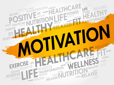 MOTIVATION word cloud collage, health concept background Illustration