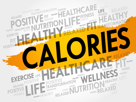 CALORIES word cloud background, health concept