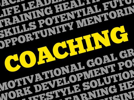 financial advice: COACHING word cloud, business concept