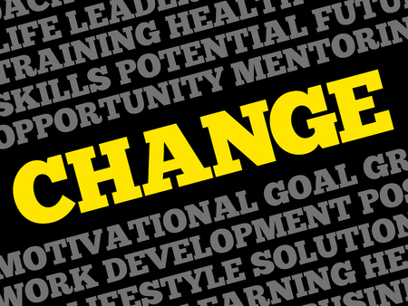 Change word cloud collage, business concept background