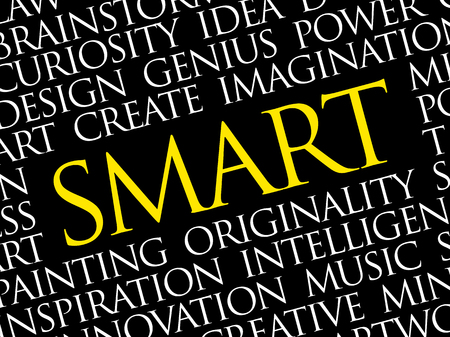 SMART word cloud collage, creative business concept background