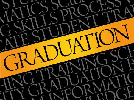 Graduation word cloud collage, education concept background
