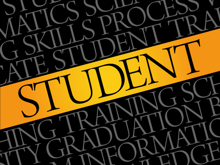 apprenticeship: Student word cloud collage, education concept background Illustration