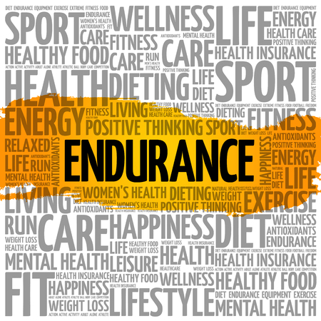 Word cloud collage of health concept background. Illustration