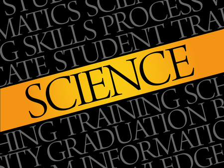 SCIENCE word cloud collage, education concept pattern