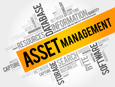 financial advice: Asset Management word cloud collage, business concept background