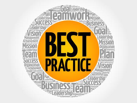 Best Practice circle word cloud, business concept Illustration