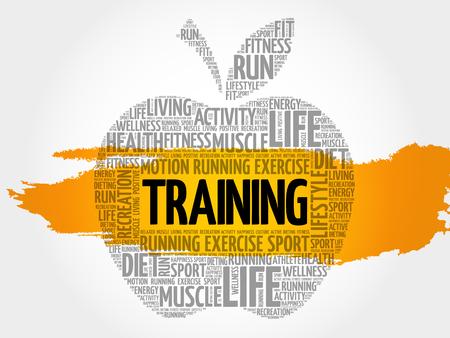 TRAINING apple word cloud, health concept