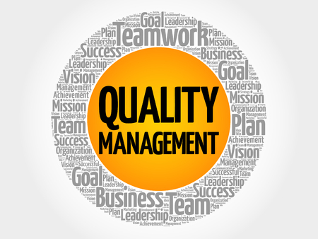 Quality Management word cloud collage, business concept background