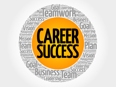 Career Success word cloud collage, business concept background