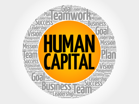 Human capital word cloud collage, business concept background