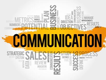 Communicatie word cloud collage Stock Illustratie