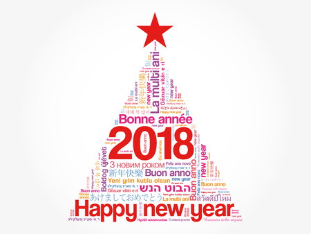 2018 Happy New Year In Different Languages, Celebration Word ...
