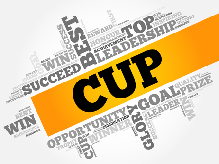 triumphant: Cup word cloud concept background