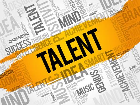 supervise: Talent word cloud collage, creative business concept background