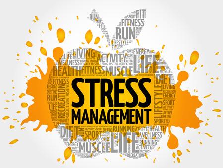 Stress Management word cloud Illustration