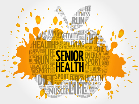 Senior health word cloud Illustration