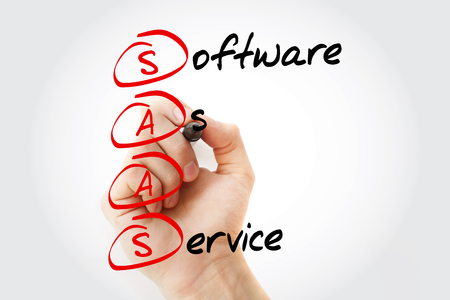 SAAS - Software As A Service, concept commercial acronyme Banque d'images - 89606789