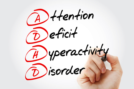 ADHD - Attention Deficit Hyperactivity Disorder, acronym concept Stock Photo