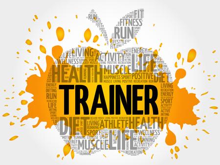 metabolism: Trainer apple word cloud, health concept Illustration