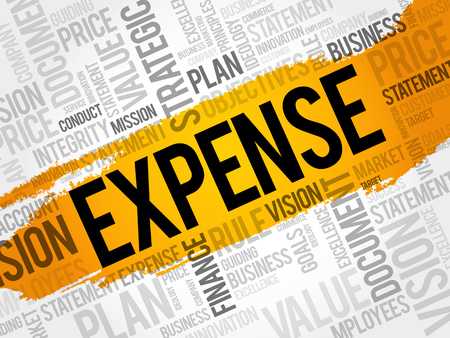 EXPENSE word cloud collage, business concept background