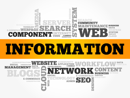 情報単語雲コラージュ、ビジネス コンセプトの背景