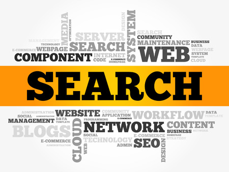 SEARCH word cloud, technology business concept background