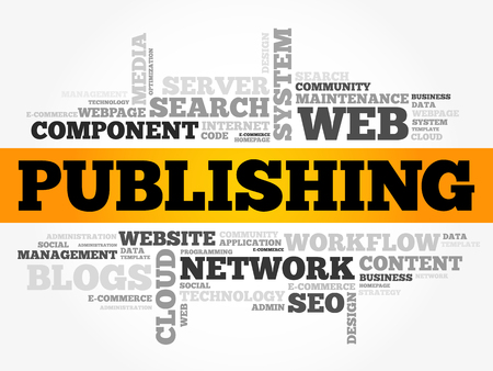 PUBLISHING word cloud, technology business concept background. Illustration