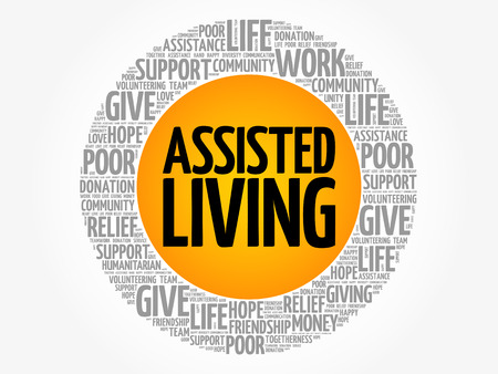 home care nurse: Assisted Living word cloud collage, concept background