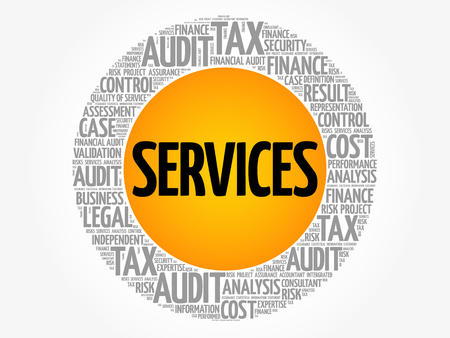 keywords: Services word cloud collage, business concept background