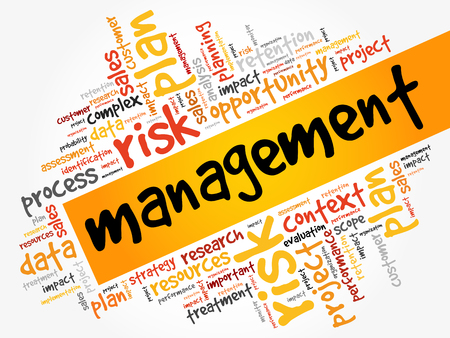 Management word cloud collage.