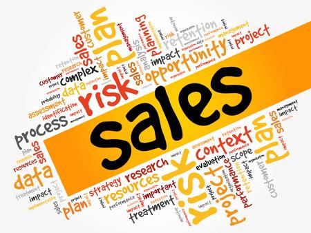 Sales word cloud.