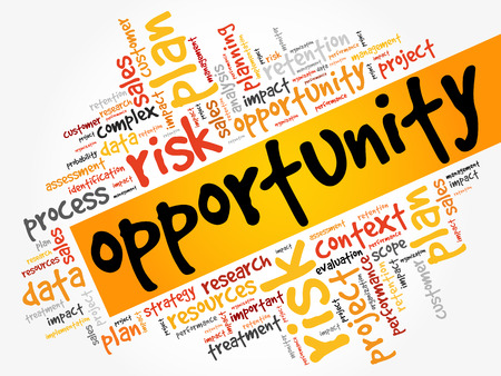 Opportunity and success word cloud. Illustration