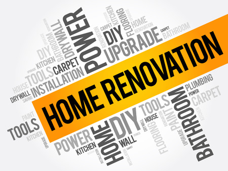 Home Renovation Word Cloud, business concept collage background
