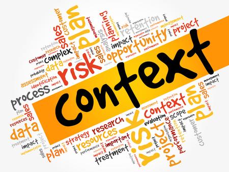 Context word cloud, business concept Vector Illustration