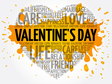 Valentine's Day concept heart word cloud