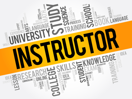 INSTRUCTOR word cloud collage, education concept background Illustration