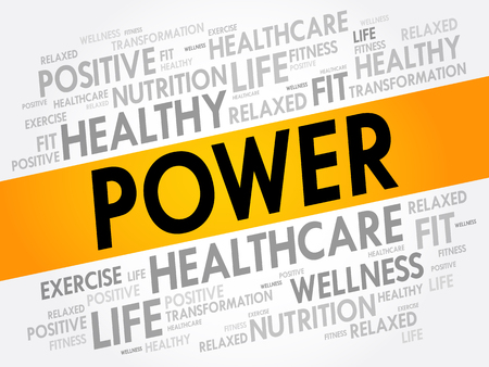 POWER word cloud, fitness, business concept 向量圖像
