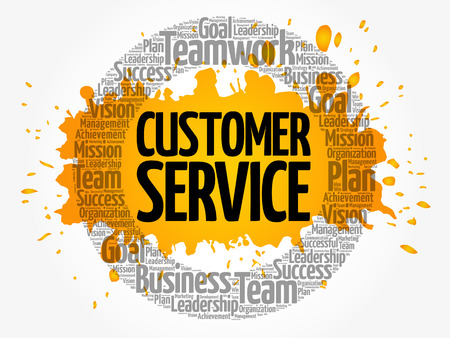 Customer Service word cloud collage, business concept background Illustration
