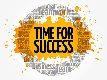 Time for Success word cloud collage, business concept background Illustration