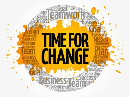 変更 word クラウド コラージュ、ビジネス コンセプトの背景のための時間  イラスト・ベクター素材