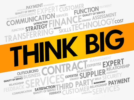 Think Big word cloud, business concept background