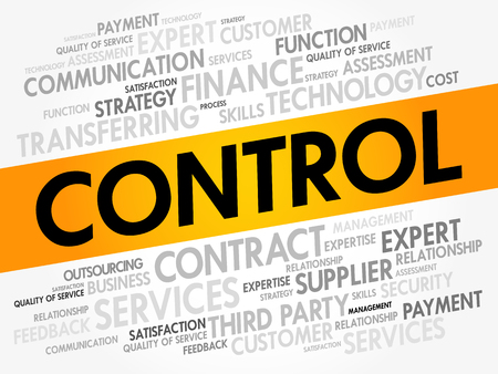 CONTROL word cloud collage, business concept background
