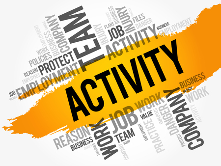ACTIVITY word cloud collage, business concept background