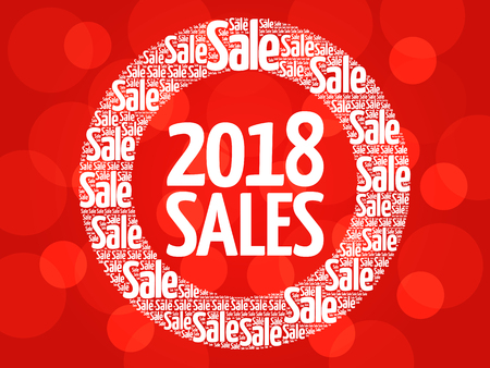 2018 SALES word cloud collage, business concept background