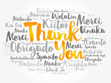 Obrigado palavra nuvem em diferentes idiomas, vetor de conceito Foto de archivo - 91822873